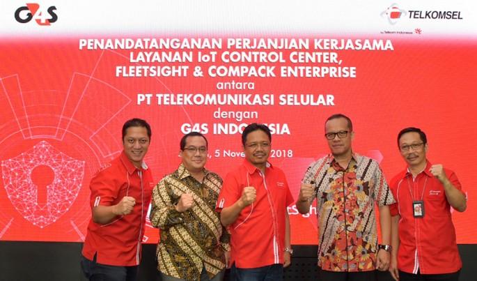 Penandatanganan kerjasama Telkomsel solusi digitalisasi bisnis G4S Indonesia di Jakarta, (5/11). Foto/Telkomsel/ECONOMICZONE