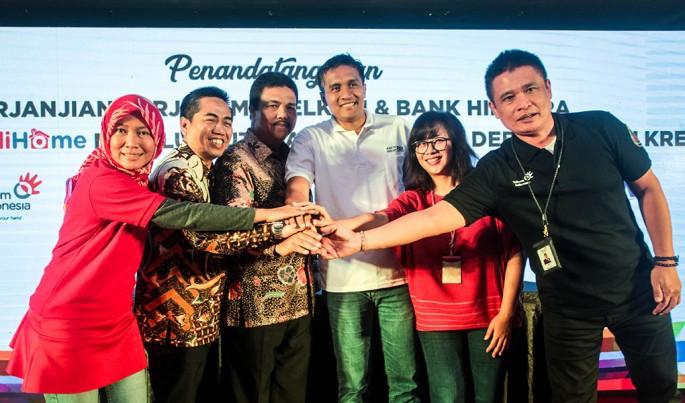 Penandatanganan naskah kerjasama antara PT Telkom Indonesia dengan Himpunan Bank Negara (HIMBARA), di Yogyakarta, Rabu (30/1/2019).Foto/Dok-Telkom/ECONOMICZONE