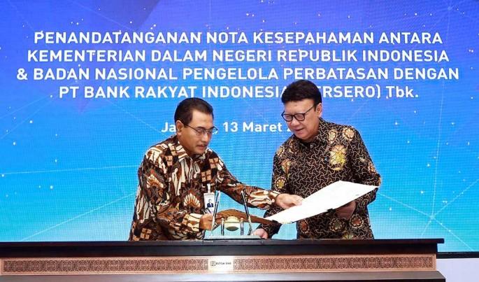 Penandatanganan Nota Kesepahaman dan Penandatangan Perjanjian Kerjasama (PKS) yang diselenggarakan di Gedung Bank BRI, Jakarta (13/03).Foto/Roni.M/ECONOMICZONE