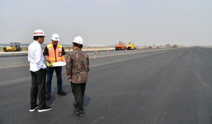 Presiden Jokowi Tinjau Proyek Runway Ketiga Bandara Soekarno Hatta.Foto/Dok-AP II/ECONOMICZONE