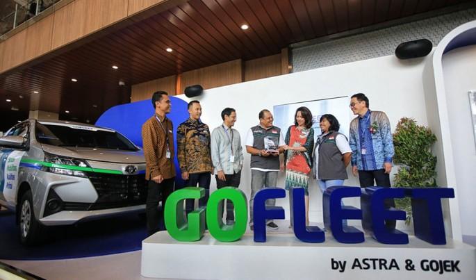 Peluncuran solusi mobilitas roda empat, GOFLEET.Foto/Istimewa/ECONOMICZONE