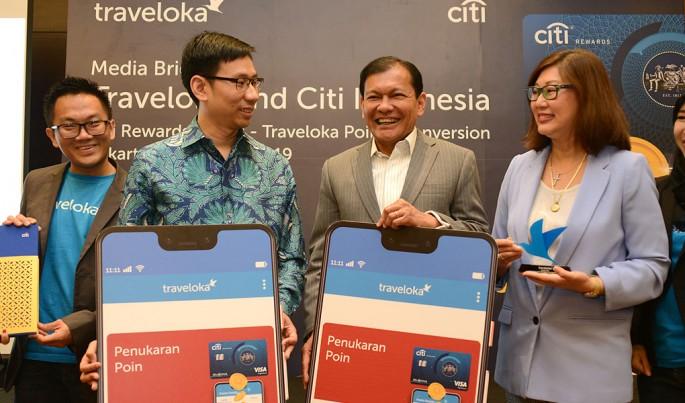 Kerjasama program Citi Rewards Point – Traveloka Points Conversion untuk nasabah kartu kredit Citi.Foto/HendraWiradi/ECONOMICZONE