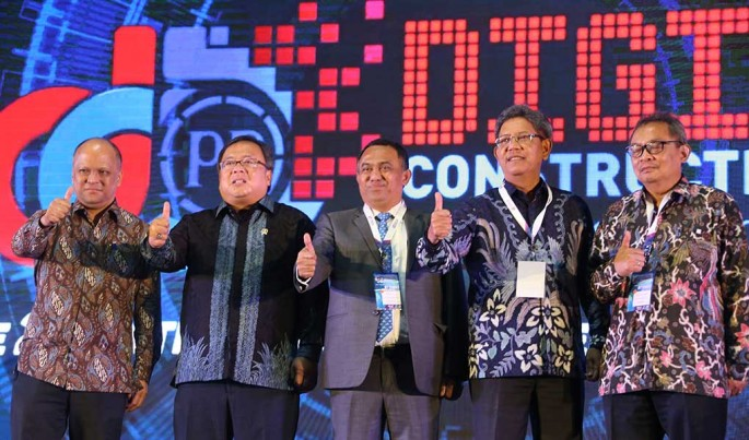 Digital Construction Day Internasional Conference dan Workshop 2019, di Jakarta, Selasa (26/11/2019).Foto/ROni.M/ECONOMICZONE