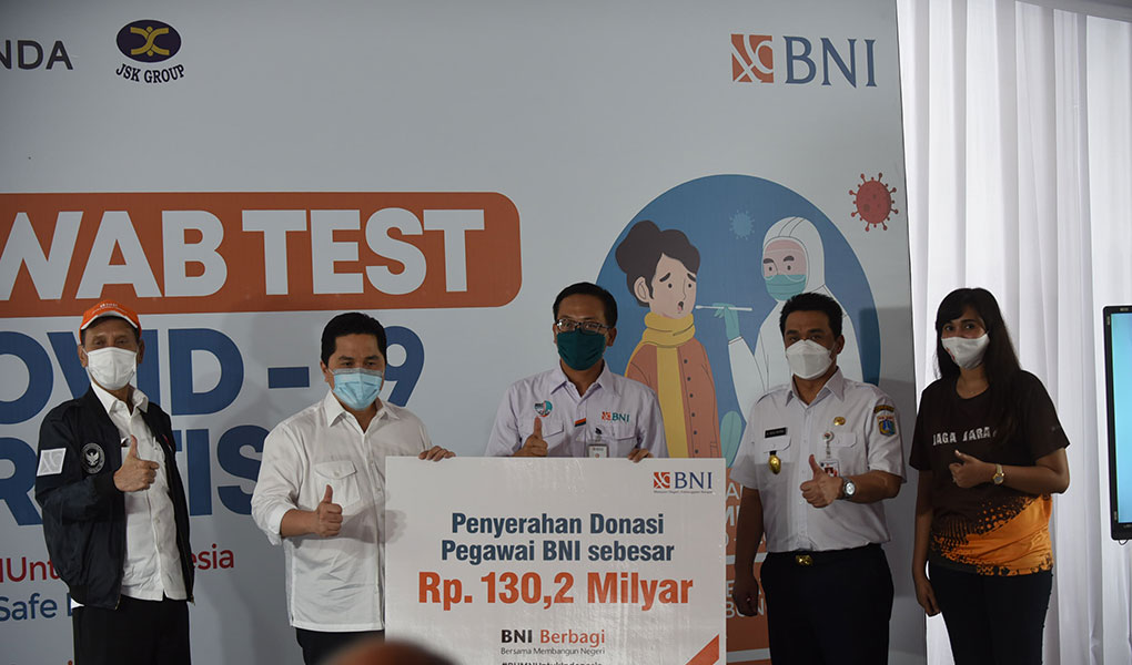 BNI Gelar Test PCR
