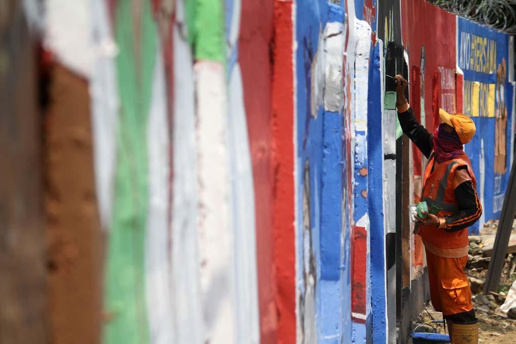 Mural Ayo Lawan Covid-19