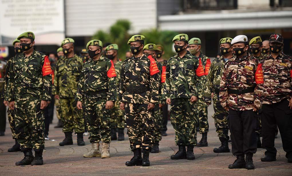 Gelar Pasukan Penegakan PSBB Total DKI Jakarta