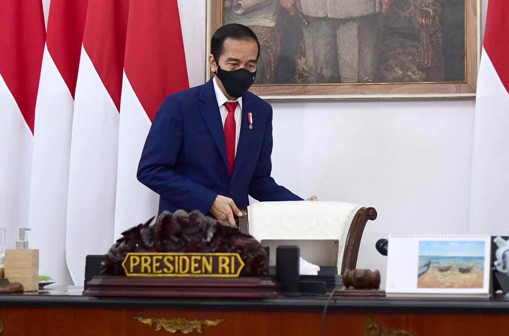 Presiden Jokowi Pimpin Ratas Laporan Komite Penanganan Covid-19 dan PEN