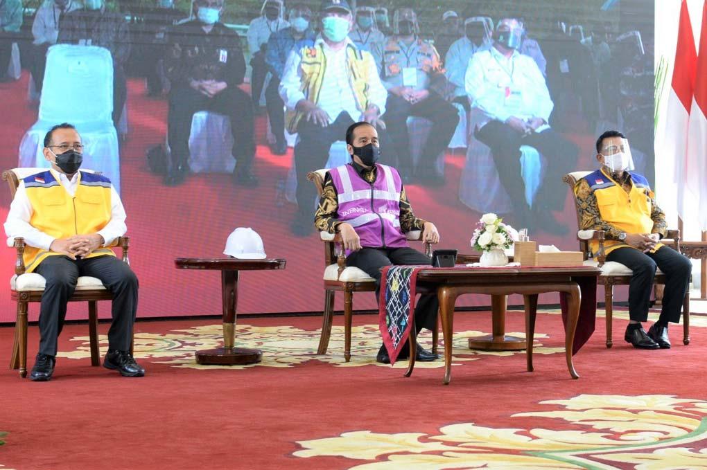 Presiden Jokowi Resmikan Tol Pekanbaru-Dumai Sepanjang 131,5 Kilometer Secara Virtual