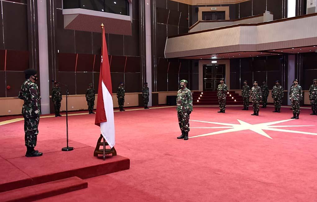 Panglima TNI Terima Laporan Korps Kenaikan Pangkat 19 Perwira Tinggi