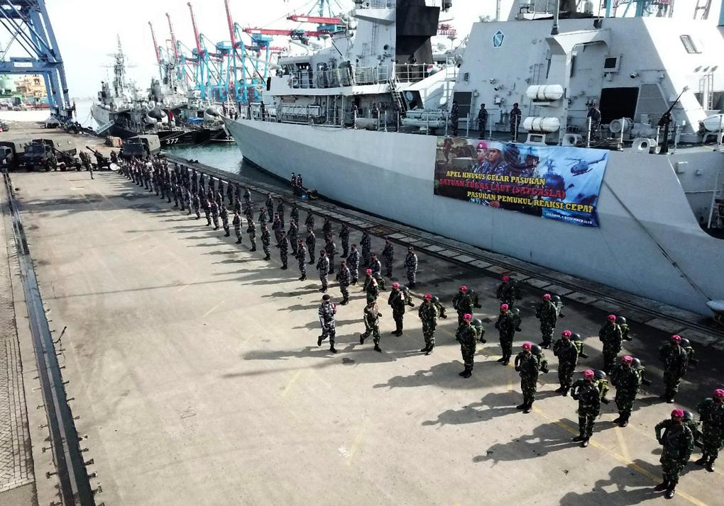 Apel Gelar Pasukan Kesiapsiagaan Satgasla PPRC TNI