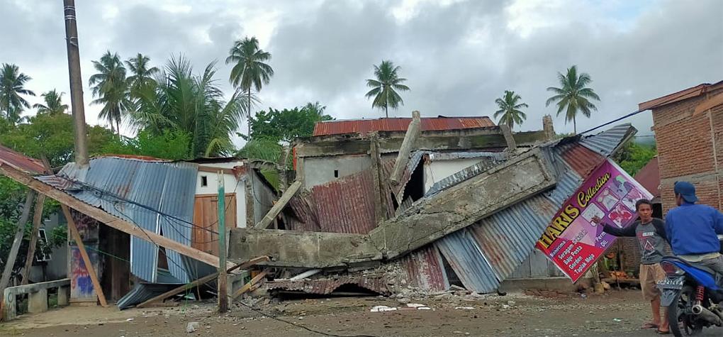 Dua Rumah Warga Mamuju Rusak Akibat Guncangan Kuat Gempa M5,9