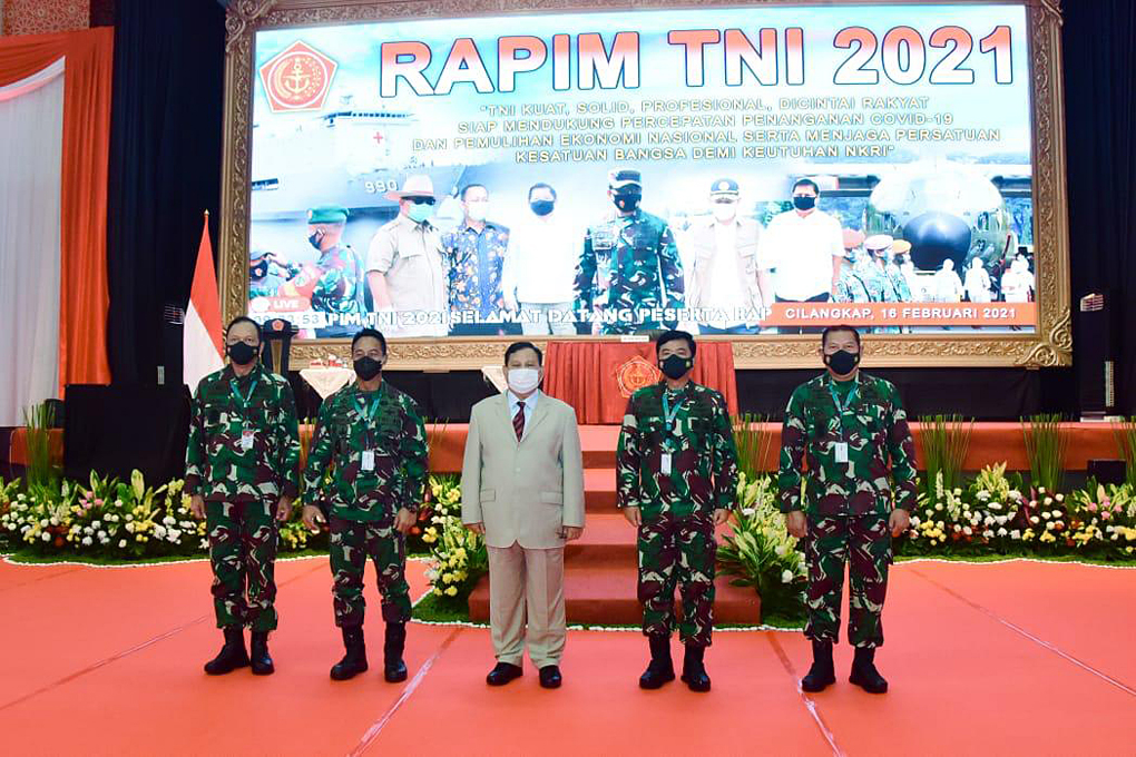 Kasau Ikuti Rapim TNI 2021