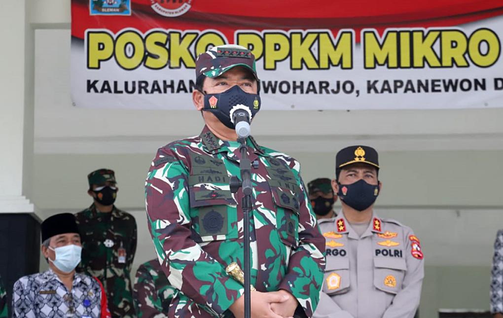 Panglima TNI dan Kapolri Tinjau Pelaksanaan PPKM Skala Mikro di Yogyakarta