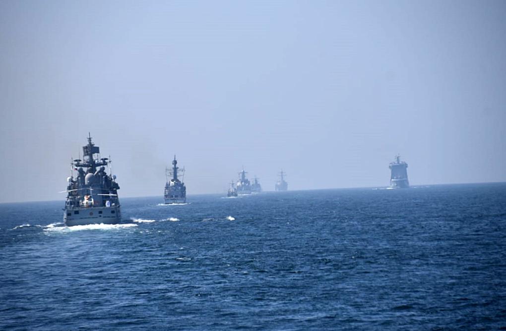 Latihan Bersama, KRI Bung Tomo-357 Berlayar di Laut Arab