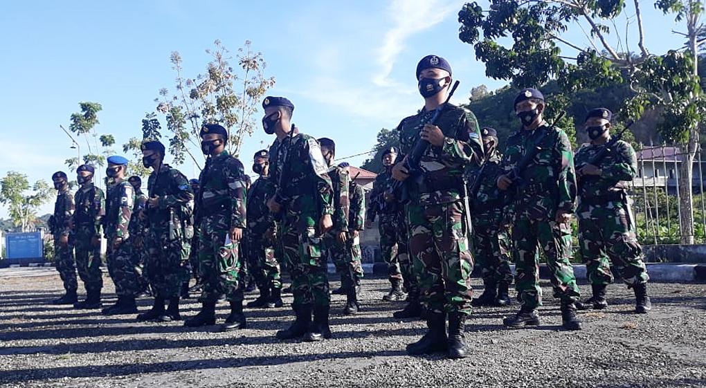 Tingkatkan Kemampuan Prajurit, Lanal Nias Gelar Latihan Glagaspur
