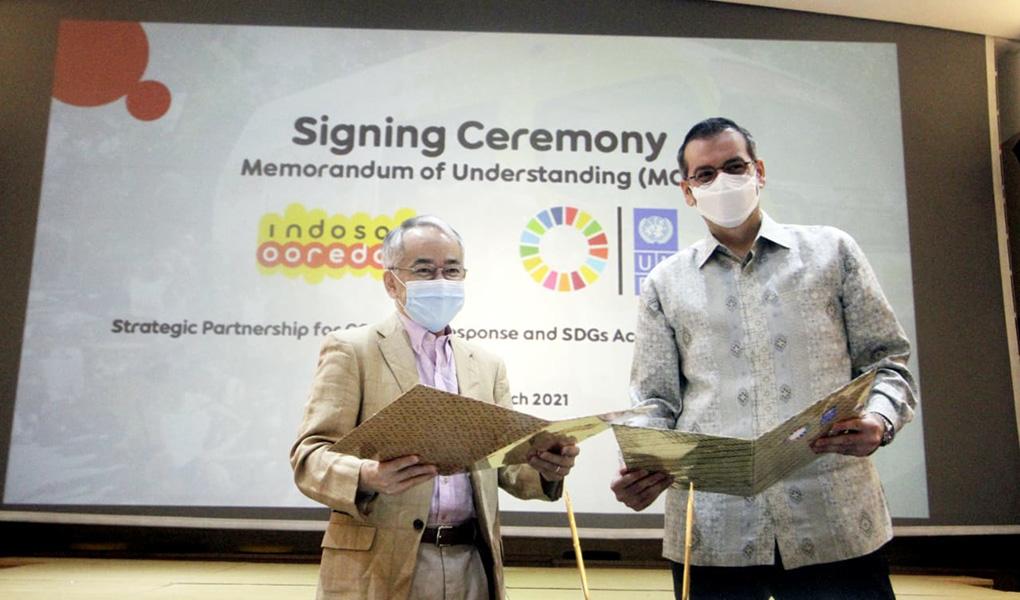 Indosat Ooredoo Dukung Tanggulangi COVID-19 dan Percepatan SDGs di Indonesia