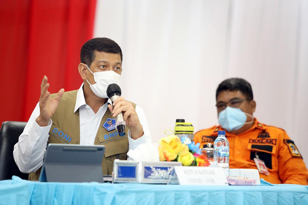 Ketua Satgas Minta Pemprov Kaltara Antisipasi Penularan Covid-19 Melalui Lintas Batas Negara