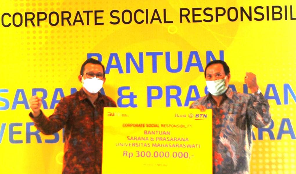 BTN Bangun Sarana Prasarana Unmas Bali