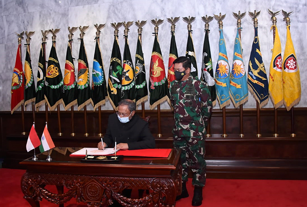 Kerja Sama Bidang Pertahanan, Panglima TNI Terima Kunjungan Courtesy Duta Besar LBBP India