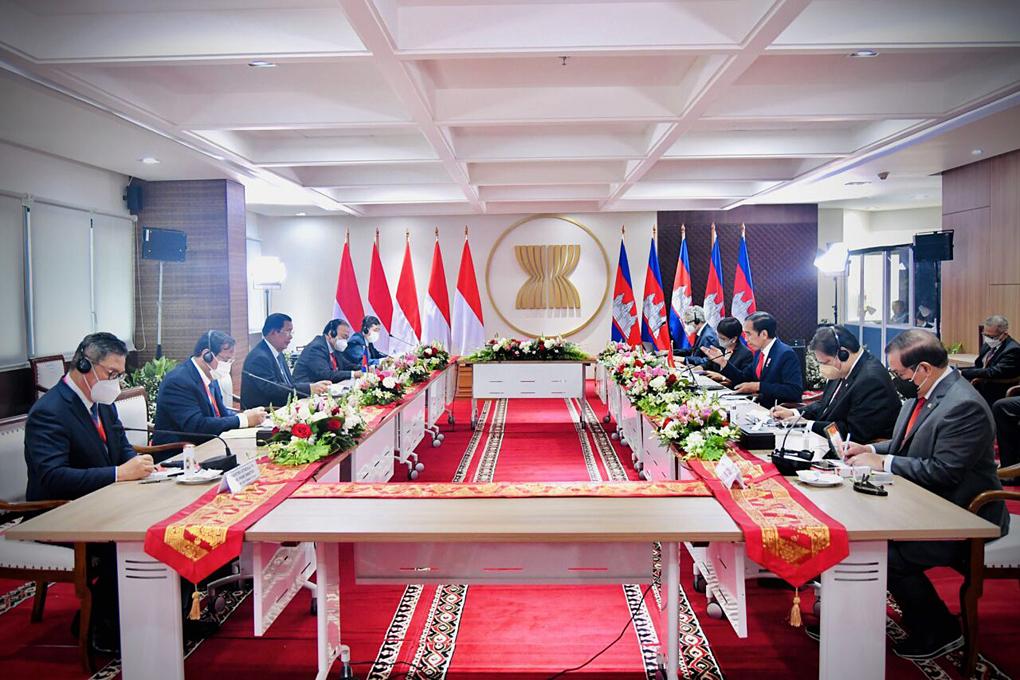 Pertemuan Bilateral Presiden Jokowi dengan Perdana Menteri Kamboja