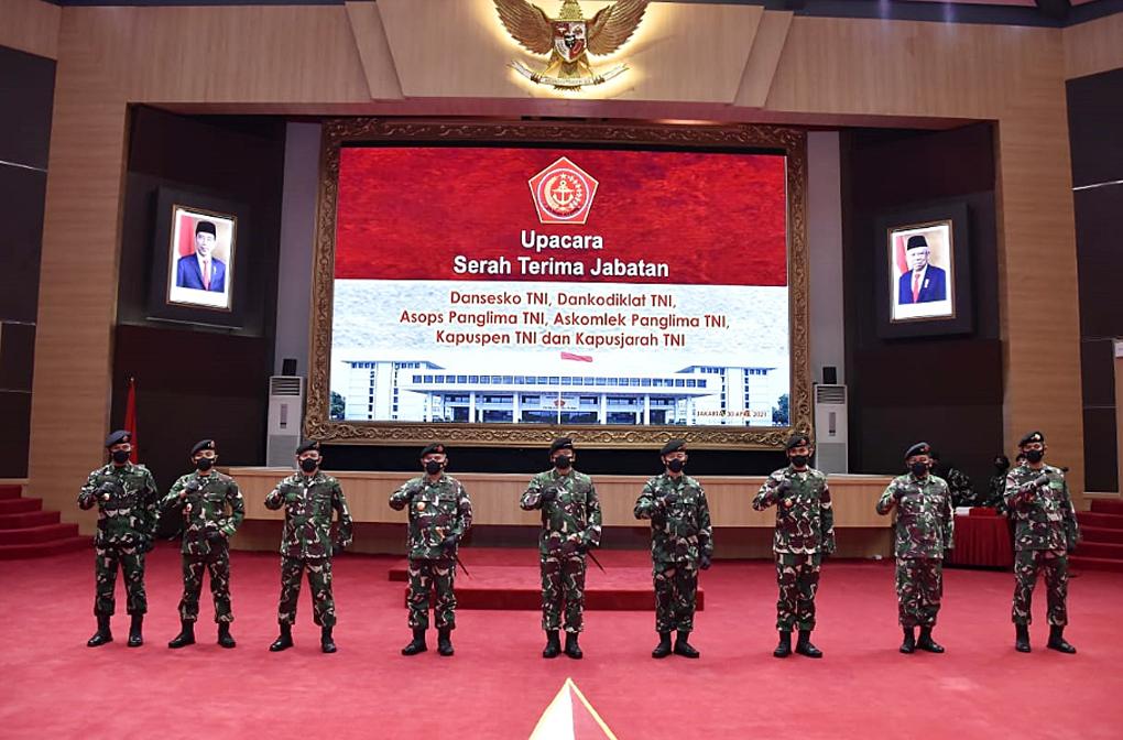 Panglima TNI Pimpin Penyerahan Jabatan di Mabes TNI