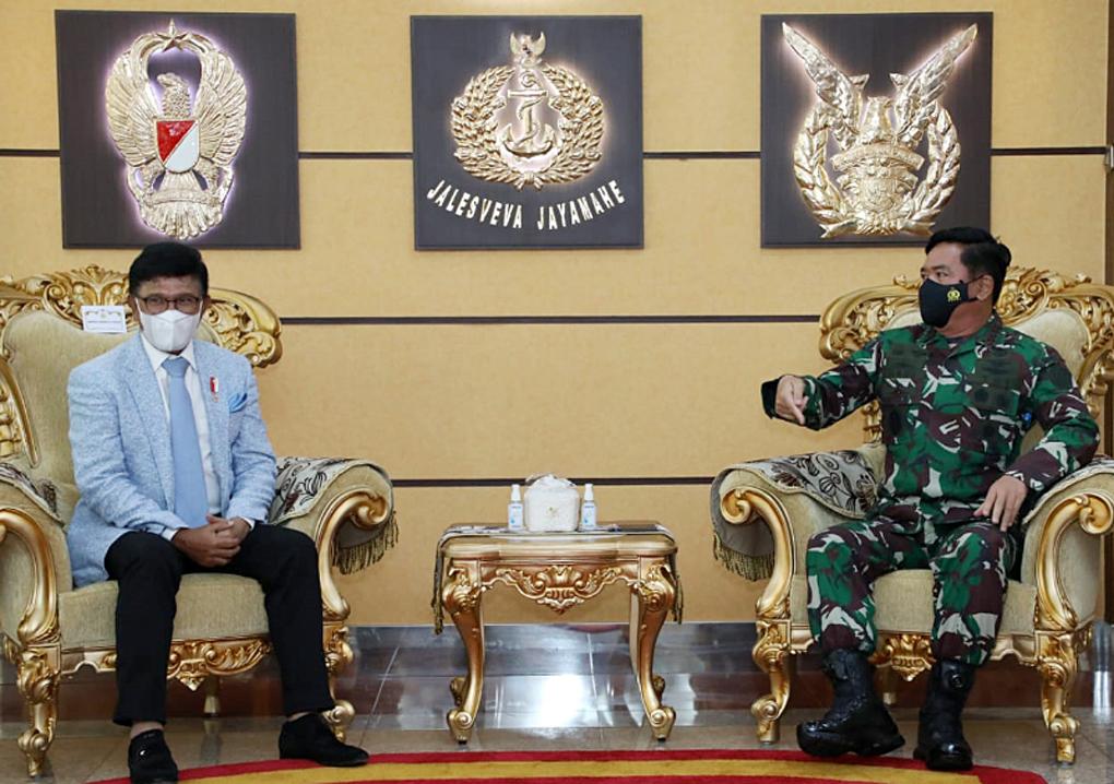 Panglima TNI Terima Kunjungan Kerja Menteri Kominfo