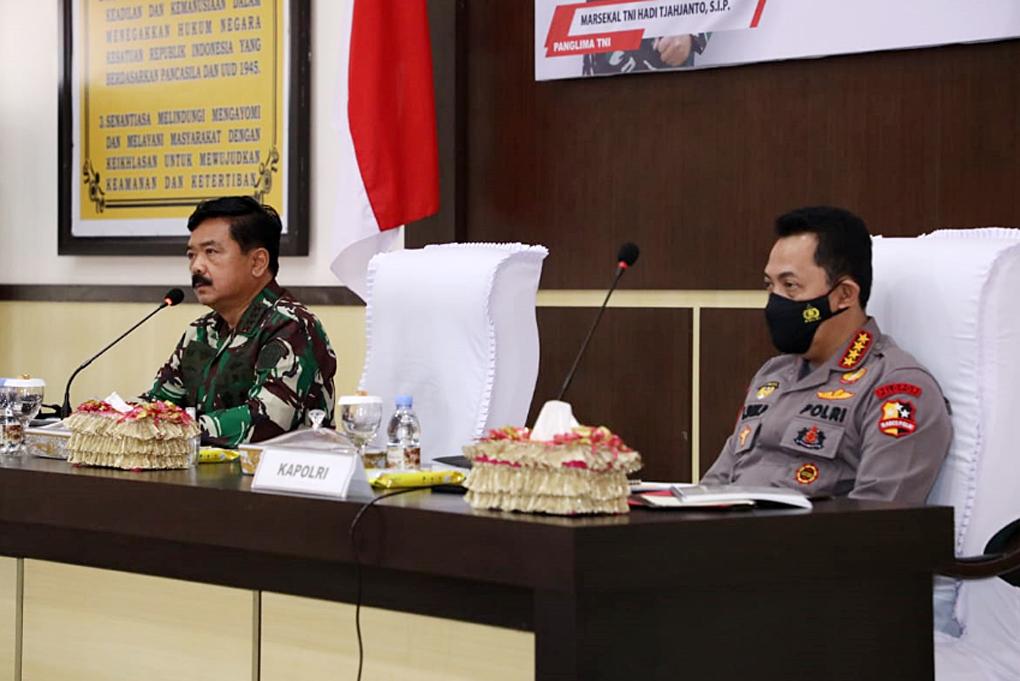 Panglima TNI dan Kapolri Berikan Pengarahan Kepada Prajurit TNI-Polri di Sulawesi Tengah