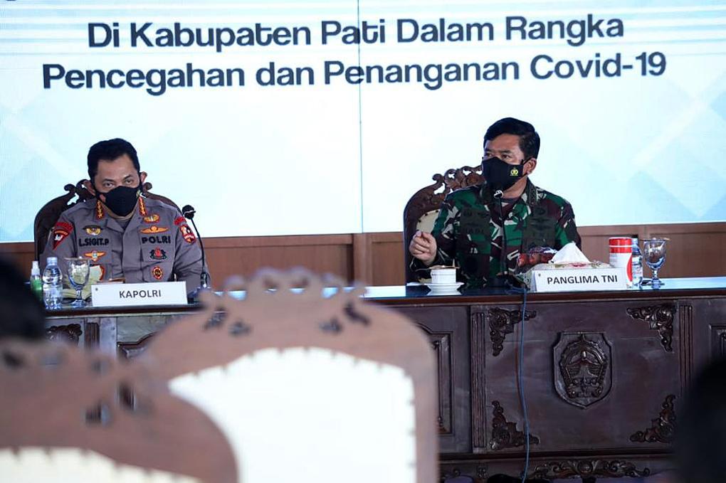 Panglima TNI Pimpin Rapat Penanganan Covid-19 di Kabupaten Pati