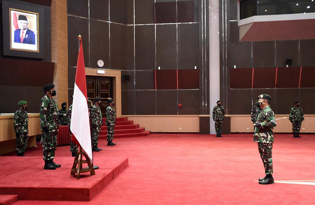 Panglima TNI Terima Laporan Korps Kenaikan Pangkat 30 Perwira Tinggi