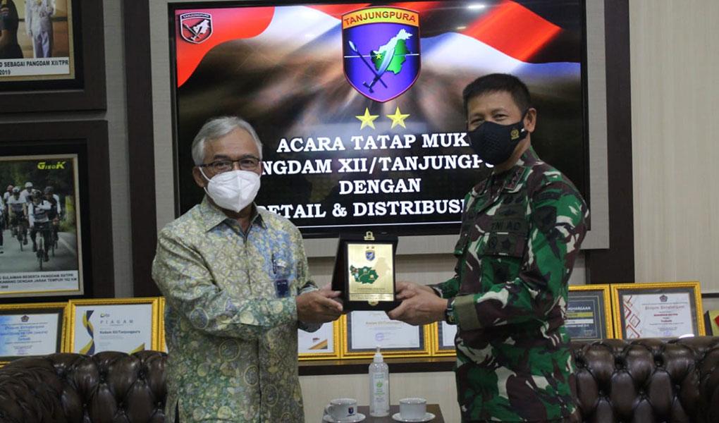 BTN Audiensi ke Pangdam Tanjungpura.