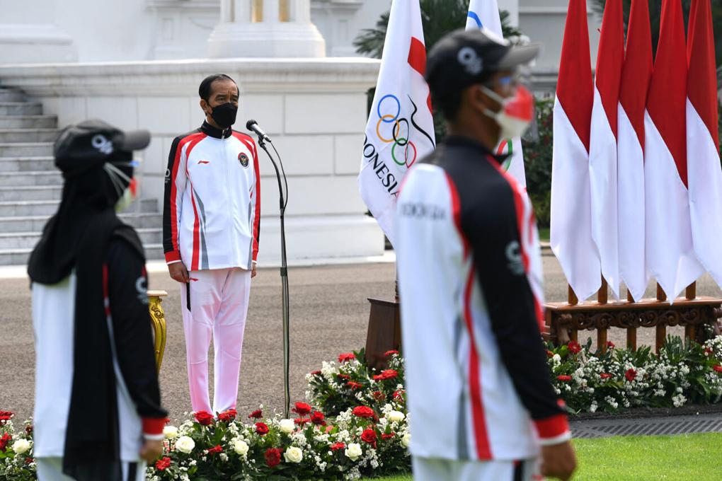 Presiden Jokowi Lepas Kontingen Indonesia ke Olimpiade Tokyo