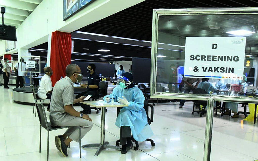 Serbuan Vaksinasi di Bandara Soekarno Hatta