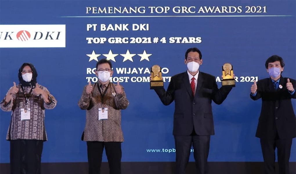 Bank DKI Raih Penghargaan The Most Committed GRC Leaders