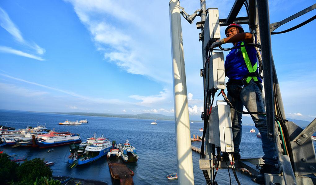 Pemeliharaan Jaringan Xl Axiata Di Pelabuhan Feri Ketapang