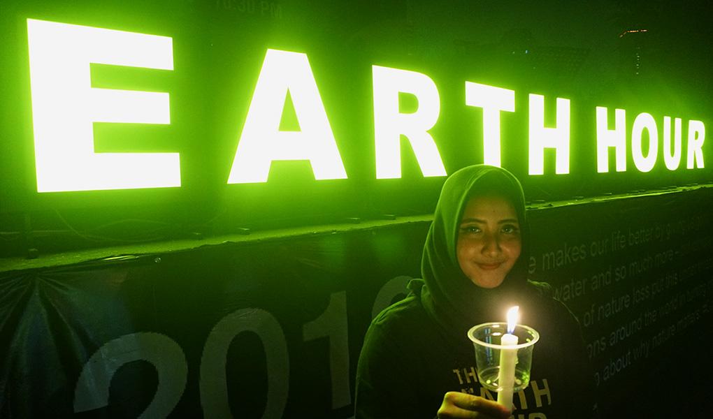 AGP Hemat Energi 91.500 Kwh Earth Hour 2019