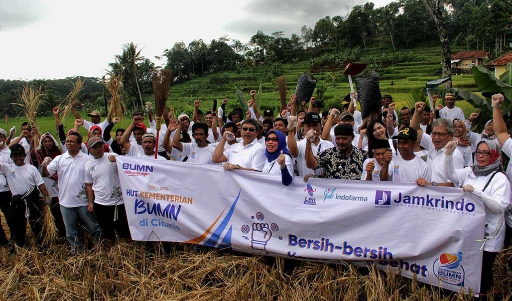 Perum Jamkrindo Pimpin Kegiatan Padat Karya Di Ciamis