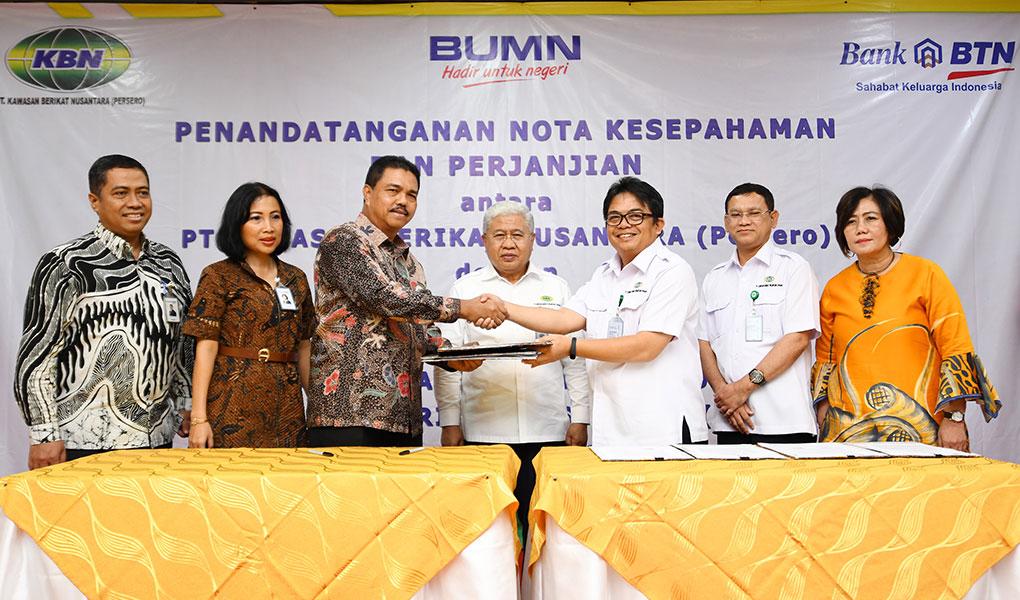 Kerjasama BTN dan KBN, Dorong Penyaluran KPR