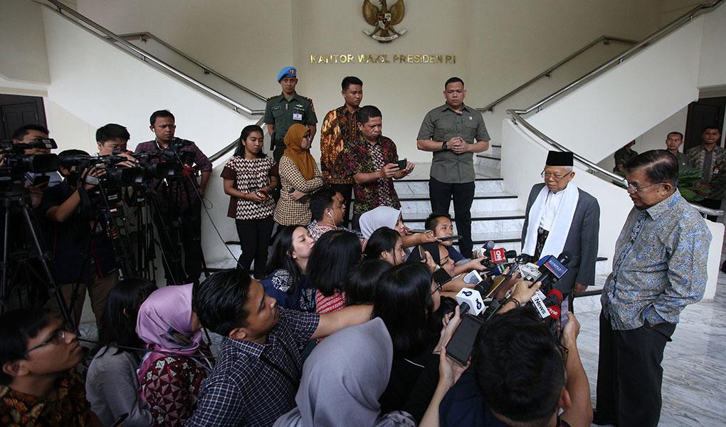 Wapres Jusuf Kalla Bertemu Dengan KH Ma'ruf Amin