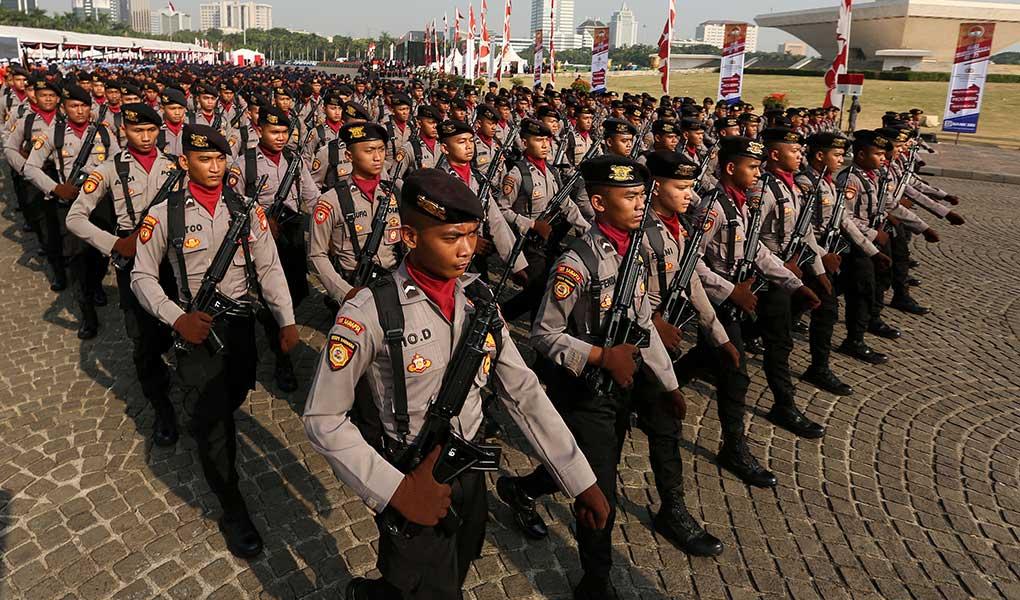 Presiden Jokowi Pimpin Upacara Hut Ke-73 Bhayangkara