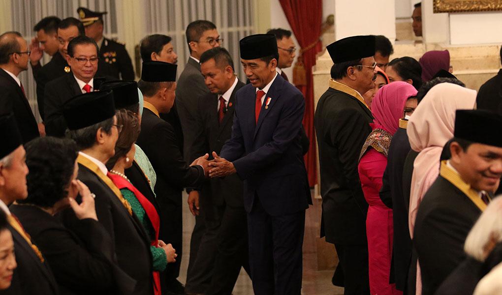 Presiden Jokowi Berikan Penganugerahan Tanda Gelar Kehormatan