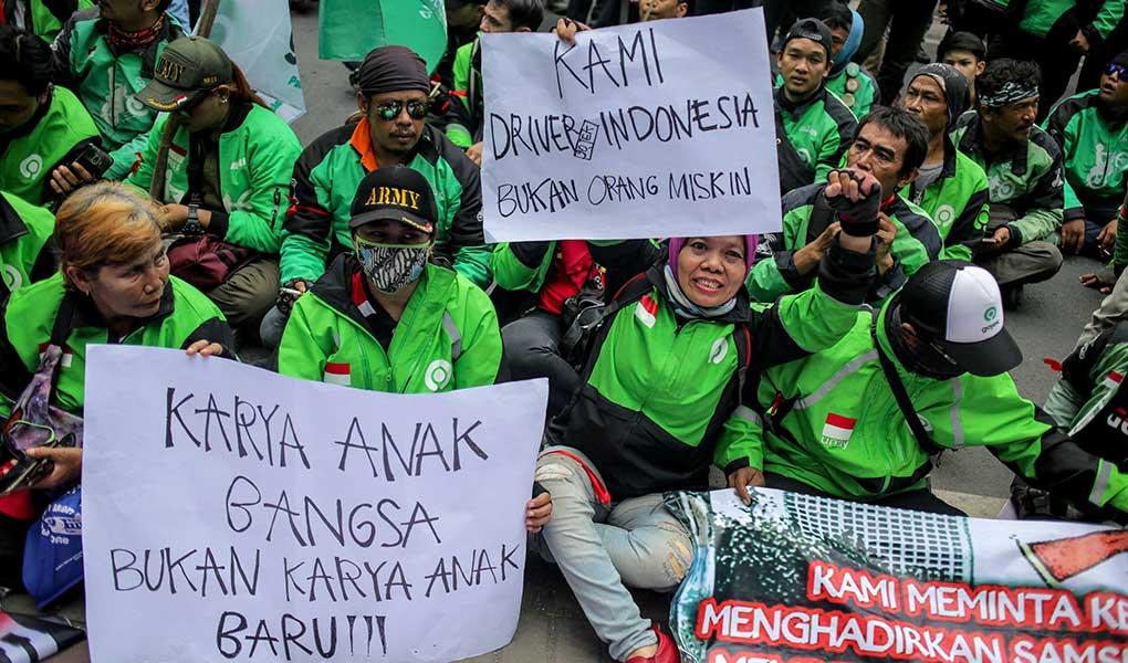 Aksi Ojek Daring Di Kedubes Malaysia