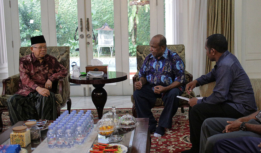 KH Ma'ruf Amin Terima Perwakilan Pendeta Papua