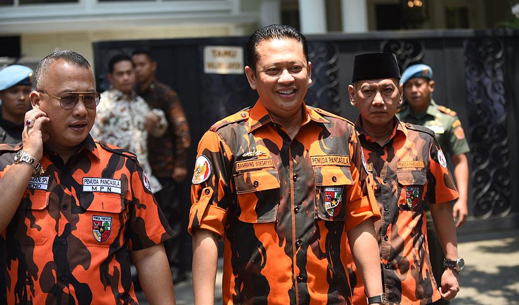 Bambang Soesatyo Temui KH Ma'ruf Amin