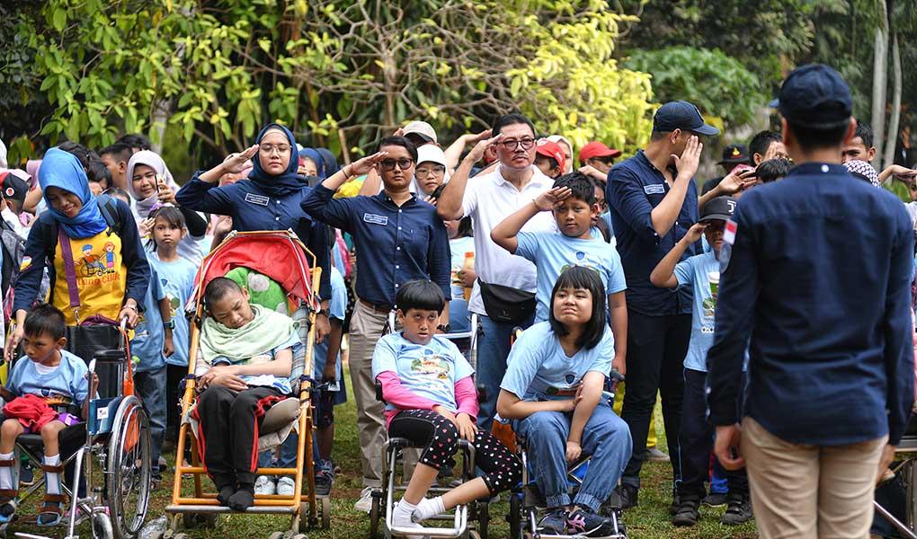 Asabri Berbagi Kursi Roda Untuk Anak-Anak Penyandang Disabilitas