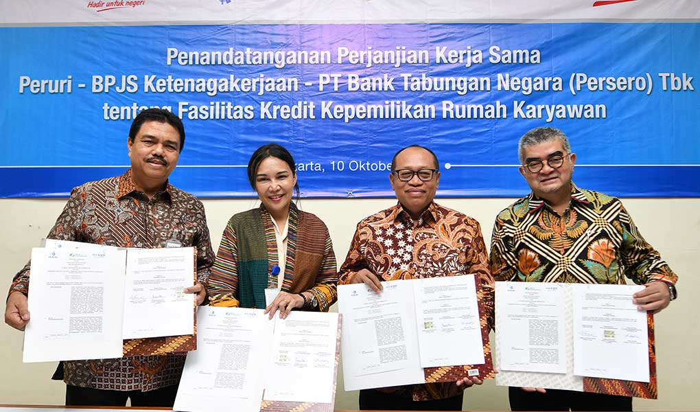Kerjasama Bank BTN - Peruri Dan BPJS Ketenagakerjaan