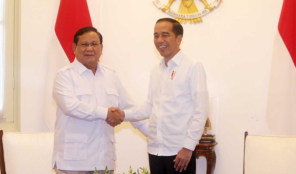 Presiden Jokowi Bertemu Prabowo Subianto