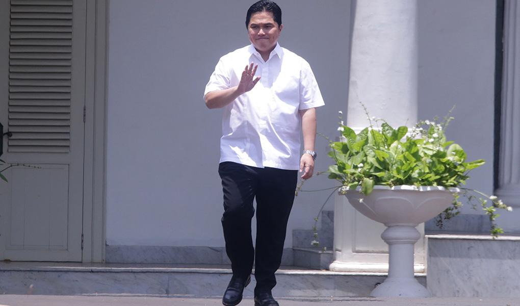 Erick Thohir Datang Ke Istana Kepresidenan