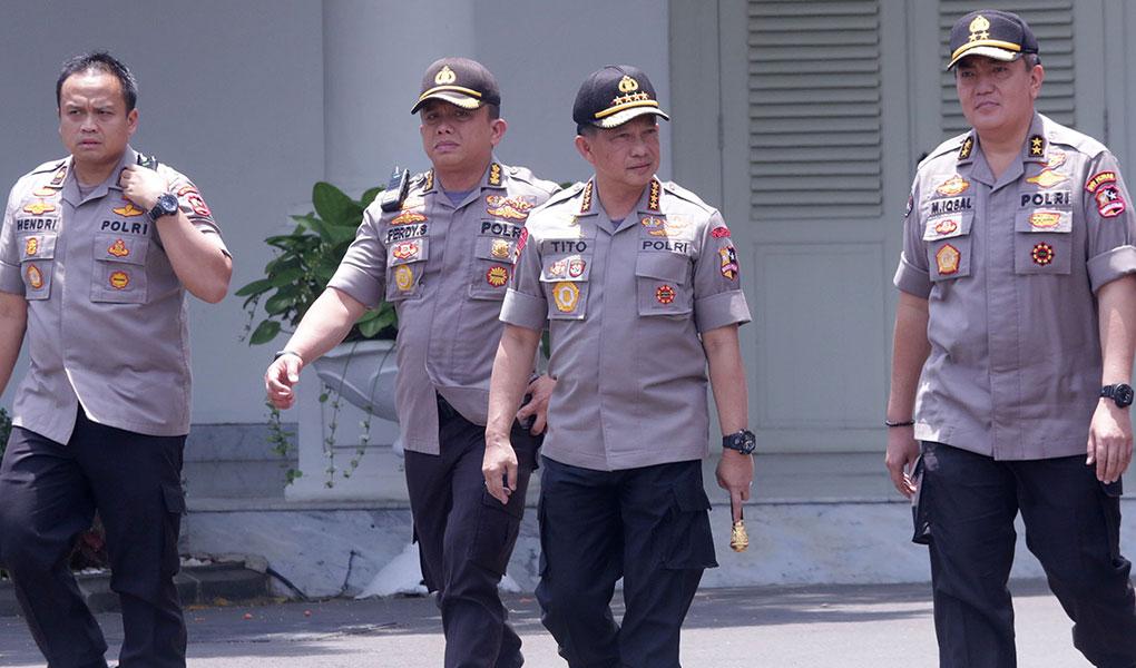 Kapolri Datang Ke Istana Kepresidenan
