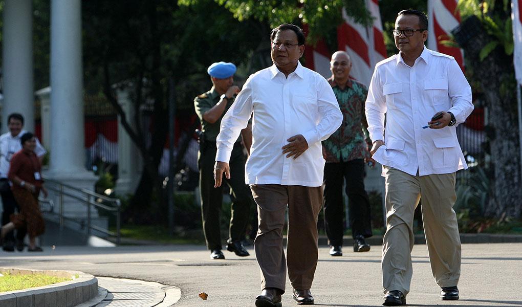 Prabowo Subianto Datang Ke Istana Kepresidenan