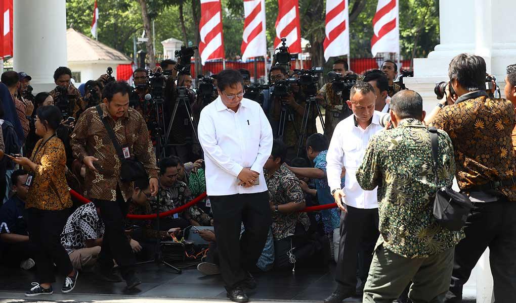 Airlangga Hartarto Datang Ke Istana Kepresidenan